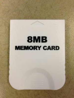 Gamecube Memory Card 8mb - Works on Wii and GC - Game Cube Nintendo - Controller