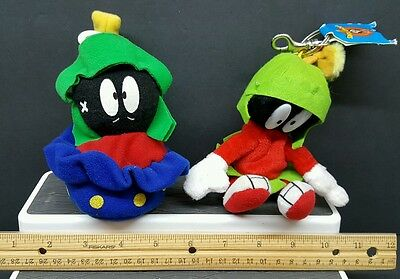 Looney Tunes Applause Marvin Martian Lot of (2) - Bean Bag Plush - Space Jam