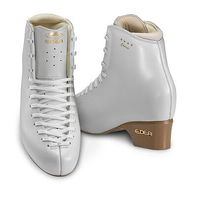 New Edea Skates Chorus Figure Skates White Size 215 C Width Rated Double Jumps