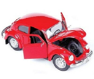 1:24 scale 1973 Red Volkswagen Beetle great for G Trains Maisto Die-cast 31926