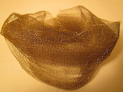 RARE Antique French Gold Metal Tricotine