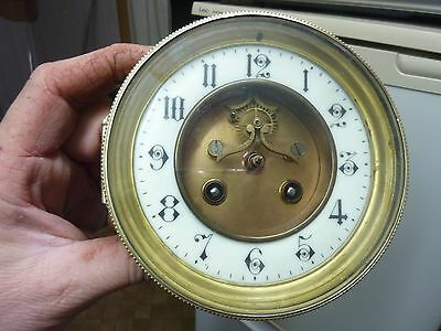 Antique French Clock Open-Escapement Striking Movement & Dial (Oe)