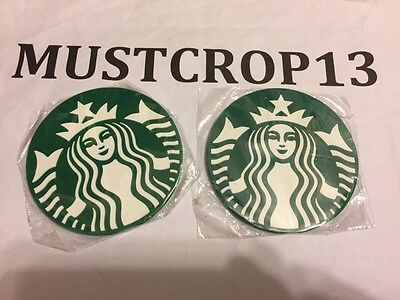 2 Starbucks Logo Cup Coaster Japan Limited Edition Mug Mat Collectible Item