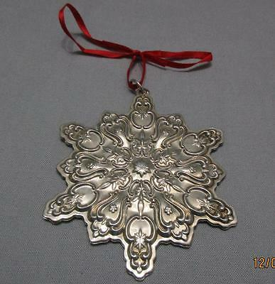 Towle Sterling Silver Christmas Ornament Old Master Snowflake 1999 Pouch