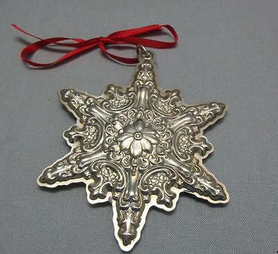 Towle Sterling Silver Christmas Ornament Old Master Snowflake 2002 Box