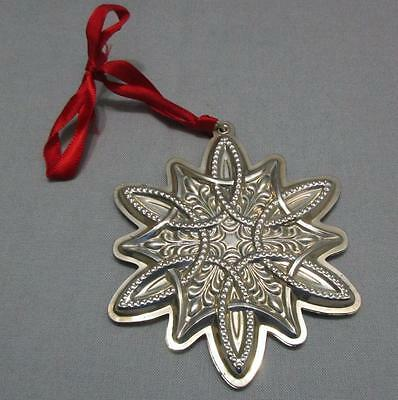 Towle Sterling Silver Christmas Ornament Celtic Snowflake 2003 Box Pouch