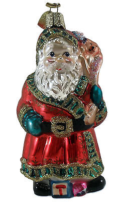 Old World Christmas Vintage Ornament Father Christmas w/Gift's