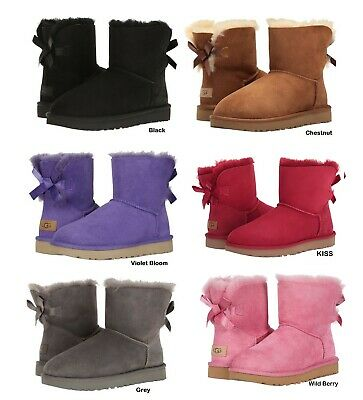 NEW UGG Australia Women's Bailey Bow Winter Boots Shoes Black Grey 5 6 7 8 9 10