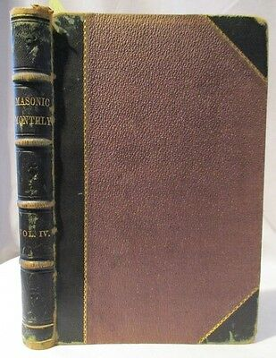 1867 Antique, Freemasons: Masonic Monthly Volume IV, 500 Pg