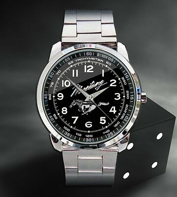 2016 Ford Mustang GT Convertible Manual Engine Sport Metal Watch