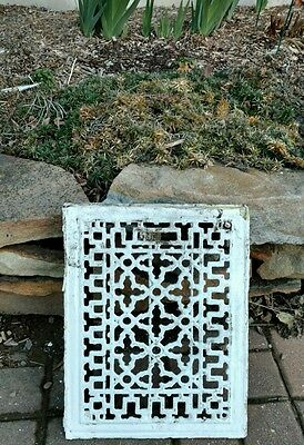 Ornate Cast Iron Air Vent Wall Art Floor Grate Heat Register Old Gothic