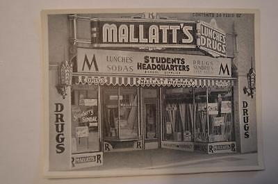 Mallatt's Pharmacy 24oz Label Madison Wisconsin Picture of front of building
