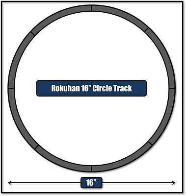 """Z scale  Rokuhan 16"""" Circle Of Track Perfect For Pizza Box Layout"""