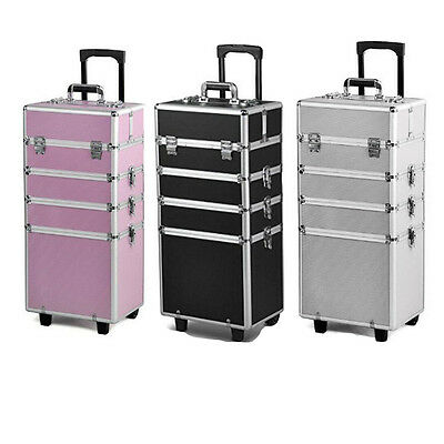 4in1 Makeup Vanity Case Cosmetics Nail Kit Hairdressing Box Beauty Trolley UK