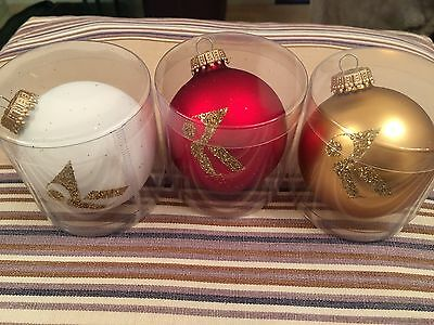 Kylie Minogue - Christmas 2016 Official Kylie K Bauble Set Of 3 Sold Out Rare
