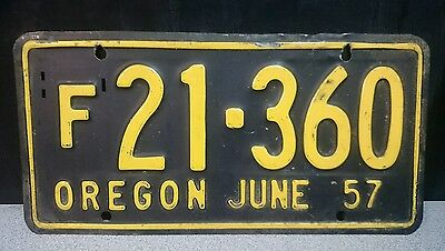 Oregon License Plate – June 1957