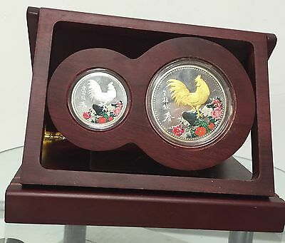 Chinese Zodiac Year Of The Rooster Silver Coin Set