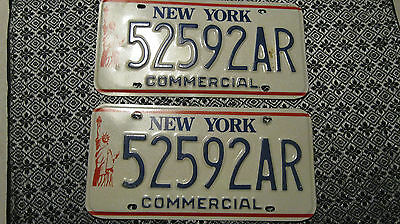 New York State Licence Plate Vintage Statue of Liberty (2 Plates)
