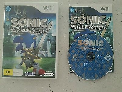 Sonic and the Black Knight (Nintendo Wii, 2009) Complete- Fast Free Post! VGC