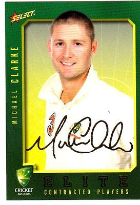 2008 Contract Players Gold Signatures Series Michael Clarke  Fs 5