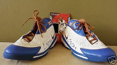 CARON BUTLER Autographed Game Used Sneakers 3D Nike Flight COA Wizards Uconn
