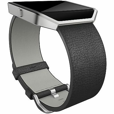 Fitbit Blaze Large Leather Accessory Band - Black -From the Argos Shop on ebay