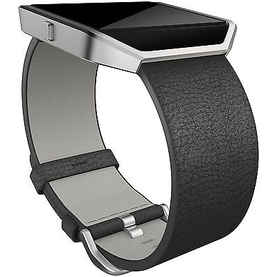 Fitbit Blaze Black Leather Accessory Band - Small -From the Argos Shop on ebay