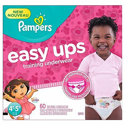 Pampers Girls Easy Ups Training Underwear, Size 6, 60 Count