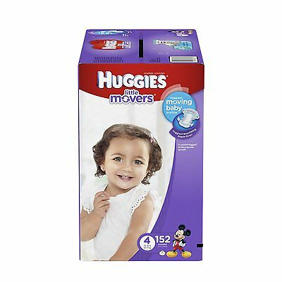 Huggies Little Movers Diapers, Size 4, 152 Count Packaging May Vary