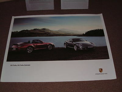 Porsche Factory Issued Showroom Poster Of The 911 Turbo & Turbo Cab.  (No.30)