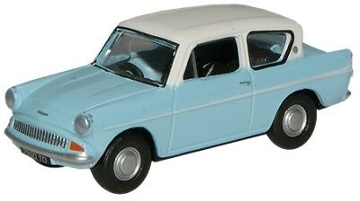 Ford Anglia Blue White Oxford Die-cast OO  76105007 Automobile UK 1:76