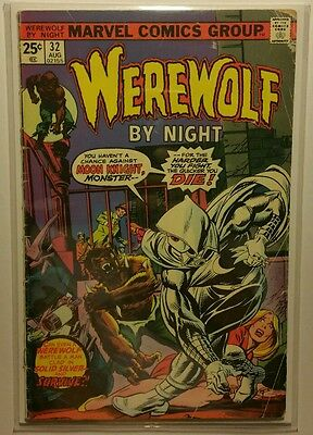 Werewolf by Night #32 (Aug 1975, Marvel) 1st appearance Moon Knight