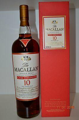 Single Malt Scotch Whisky MACALLAN 10 years old Rare Cask Strength with box