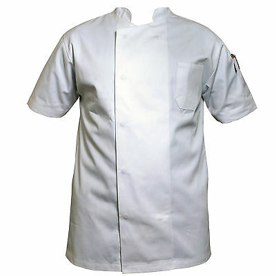 white professional chefs jacket poly cotton excellent quality jacket for unisex