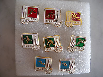 EO JO (Olympic Games) Moscou (Moscow) 80 - Série 8 broches / pin's (pin) - TBE