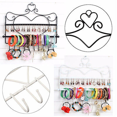 Earring Necklace Jewelry Organizer Wall Display Hanging Holder Stand Rack Holder