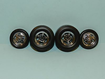 GMP 1/18 Chrome Wheel And Tyre Set Great for diorama/rebuilds