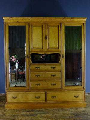 Lovely Large Victorian Ash Wardrobe