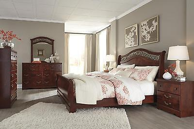 Ashley Delianna B223 King Size Sleigh Bedroom Set 6pcs Traditional Style