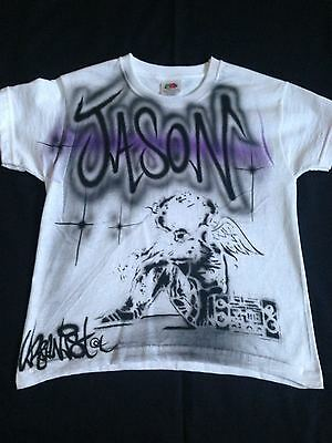 Urbanist Graffiti Art personalised airbrushed children/'s T-Shirts unique gift