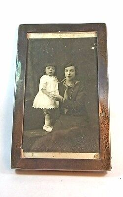 Antique solid sterling silver photo picture frame 1918 WWI Charles S Green & Co