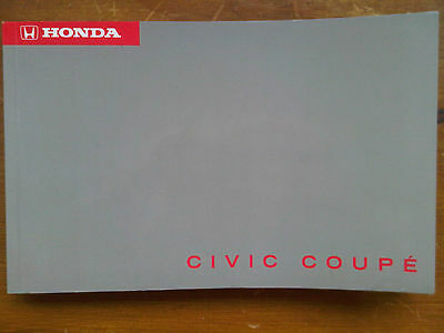 Honda Civic Coupe 1995 Owners Handbook Instruction Guide Manual