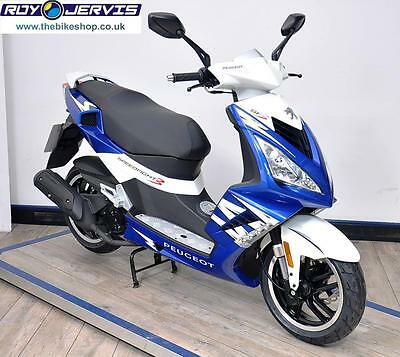 2016 (66) Peugeot Speedfight 3 125 Scooter Blue One Owner ONLY 5 MILES!