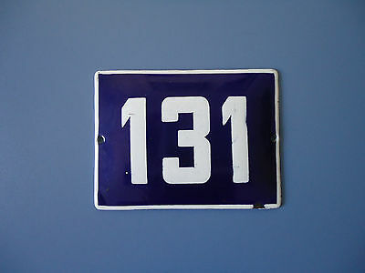 Old Bulgaria house number door gate plate plaque enamel metal sign 131