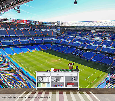 Santiago Bernabeu Wall Art Mural Real Madrid Quality Pastable Wallpaper Decal
