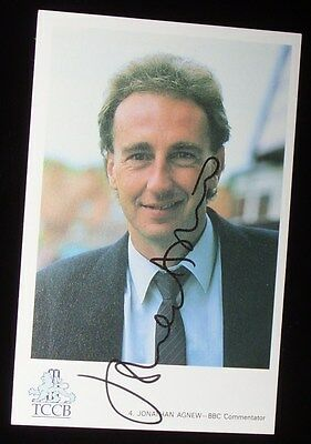 Jonathan Agnew cricket signed Leicestershire / England