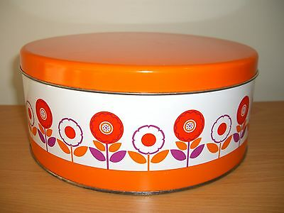 ***Vintage Retro Willow Cake Tin Canister Container***
