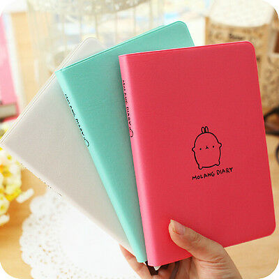"""Molang Rabbit"" 1pc Planner Agenda Scheduler 2017 Notebook Faux Leather Diary"