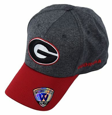 low priced e82e1 a7603 NCAA Georgia Bulldogs Top of the World 1Fit Adult Cap Hat Grey
