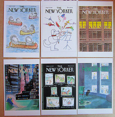 New Yorker Magazine Front Cover - Postcard X 6 1980's  Postcards